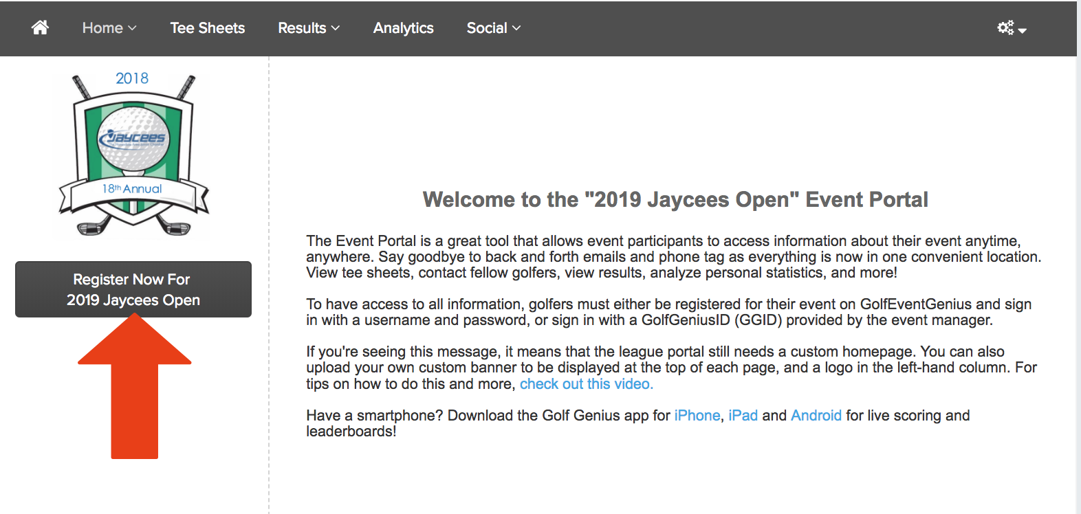 Golfgenius - Event and League Registration Instructions for your Players