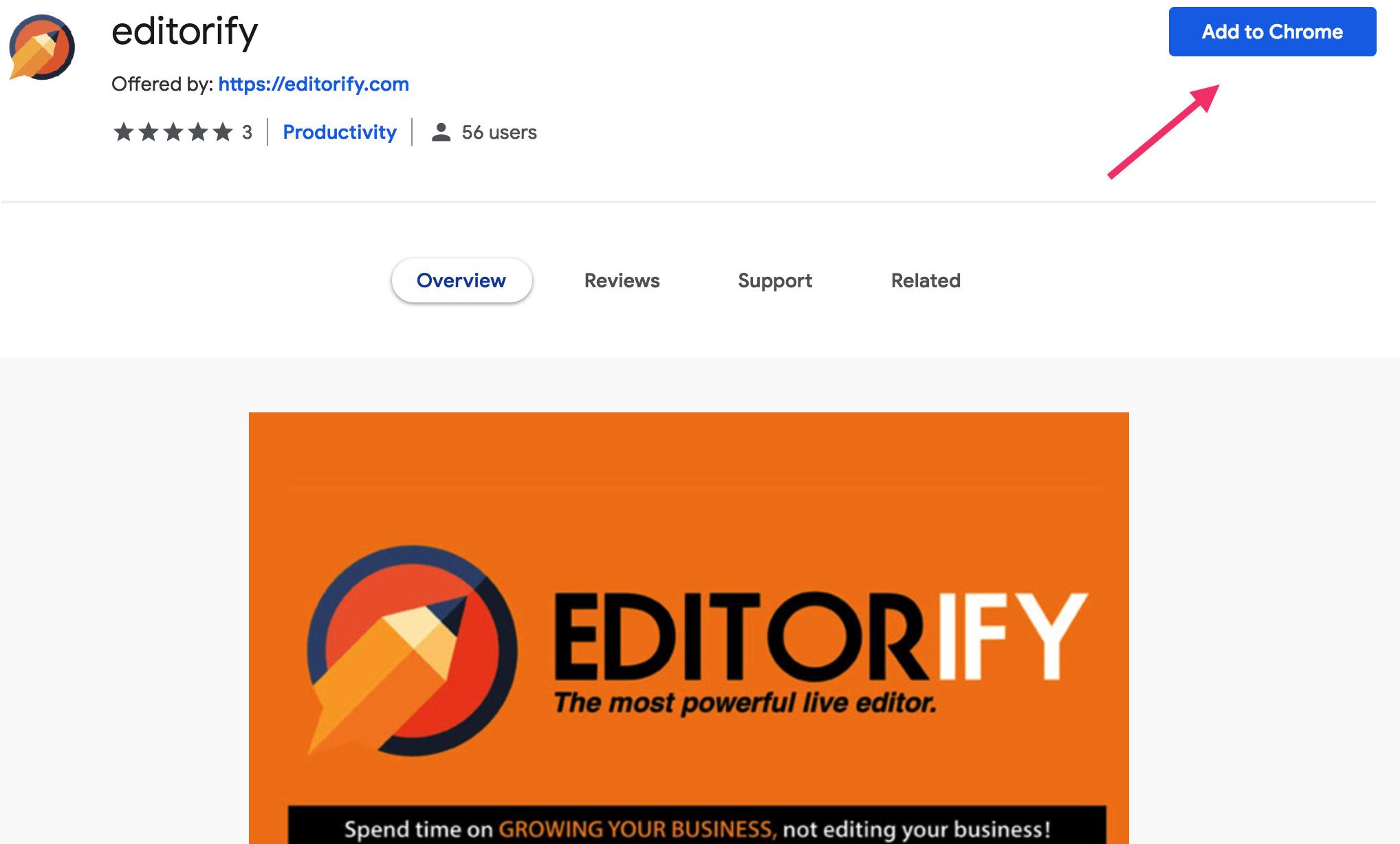 Start Editorify for FREE