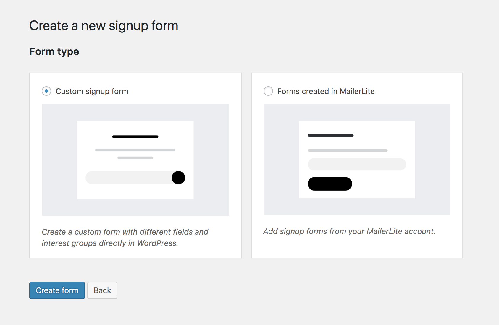 MailerLite - How to create a custom signup form using