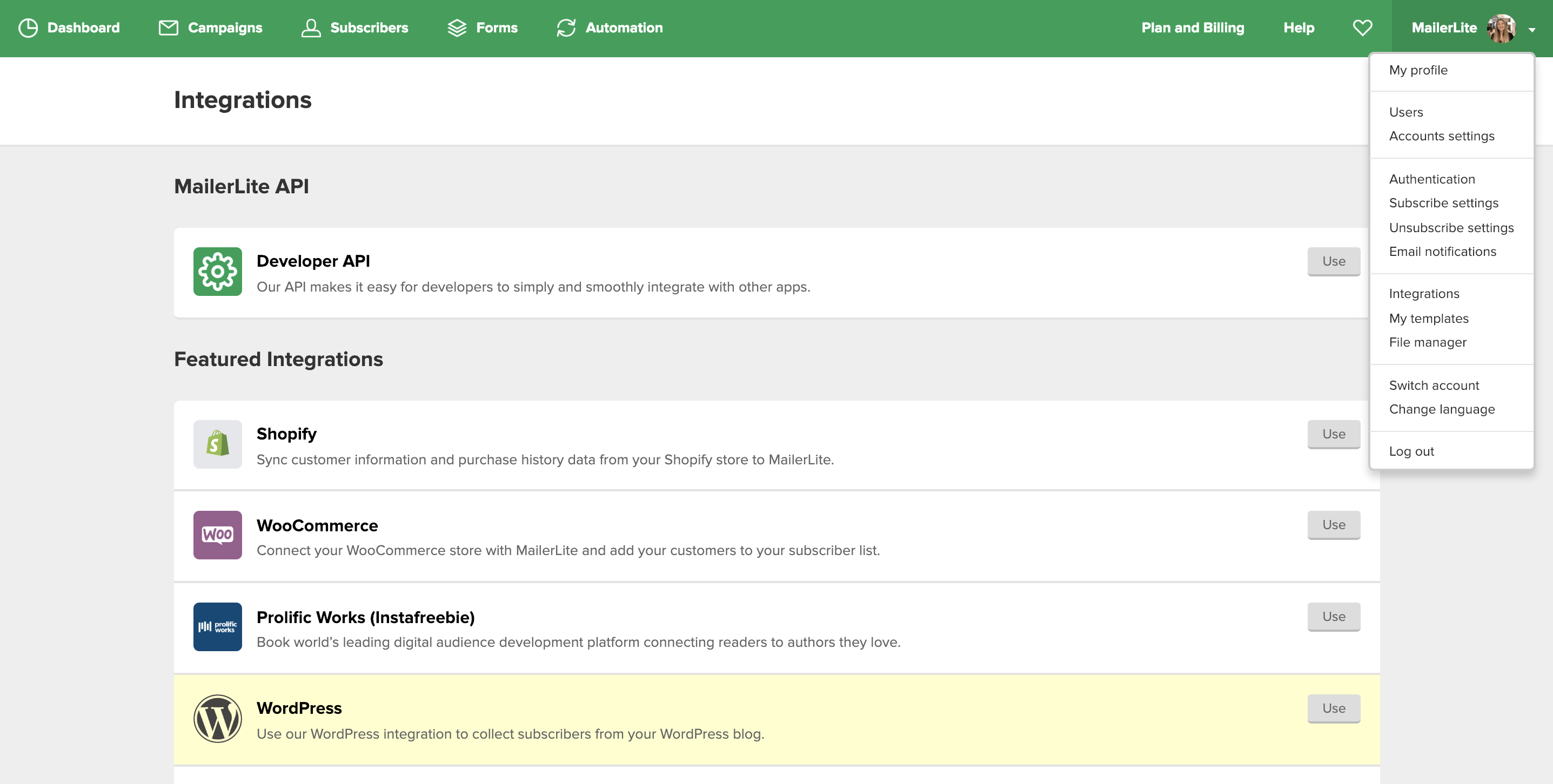 MailerLite - Does MailerLite offer a plugin for WordPress?