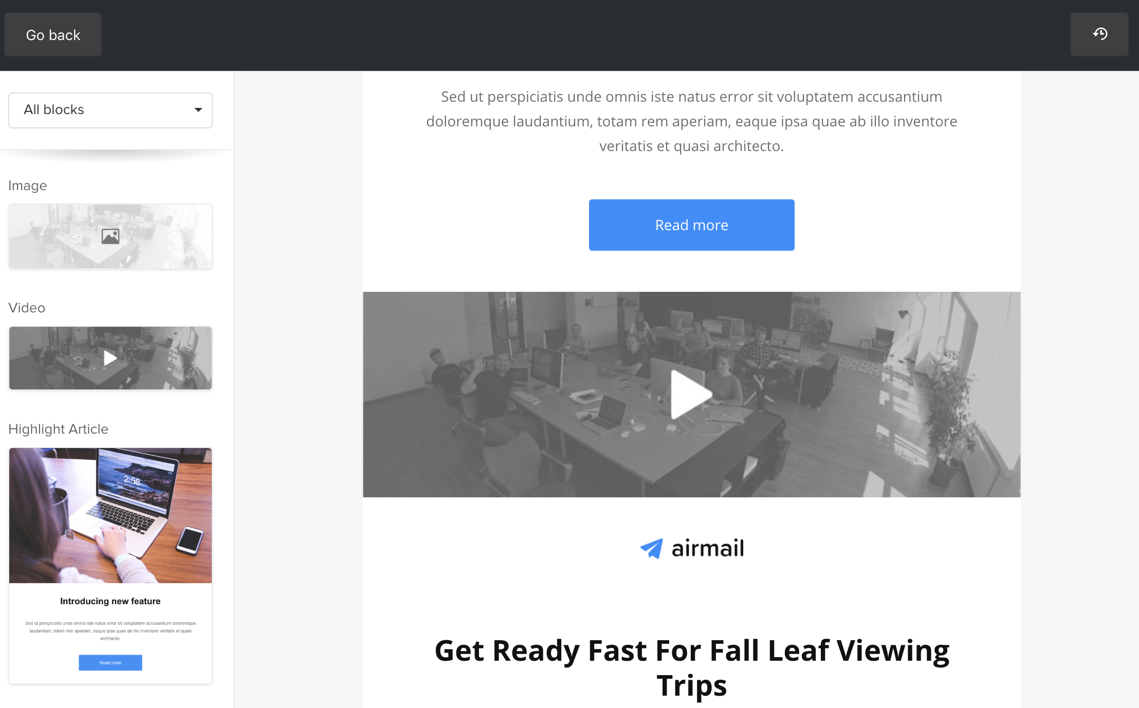 MailerLite - How to include a video in a newsletter?