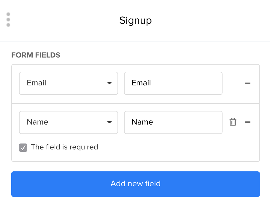 MailerLite - How to add more fields in a sign up form