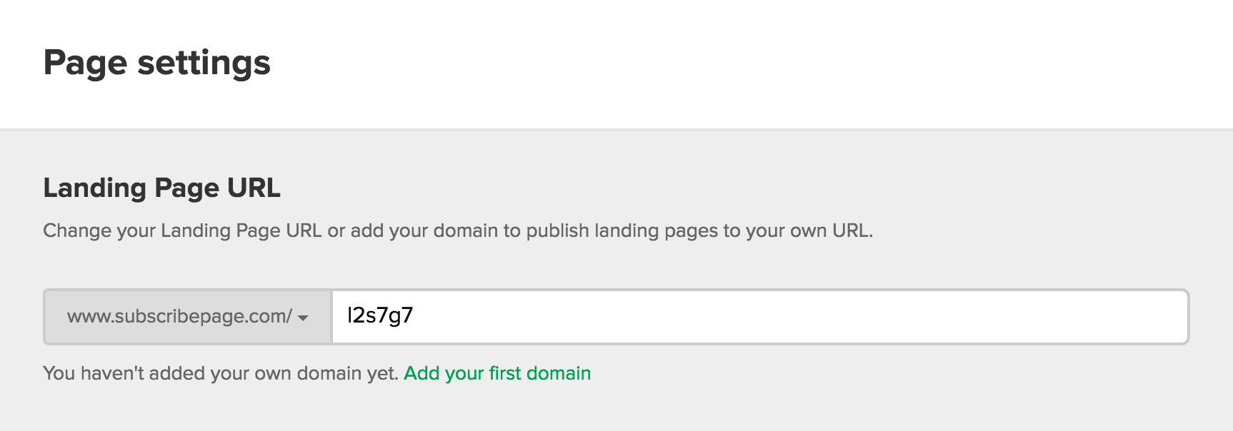 mailerlite how to add a custom domain for my landing pagethis random part after the slash serves to separate different landing pages on www subscribepage com as all our landing pages are there by default